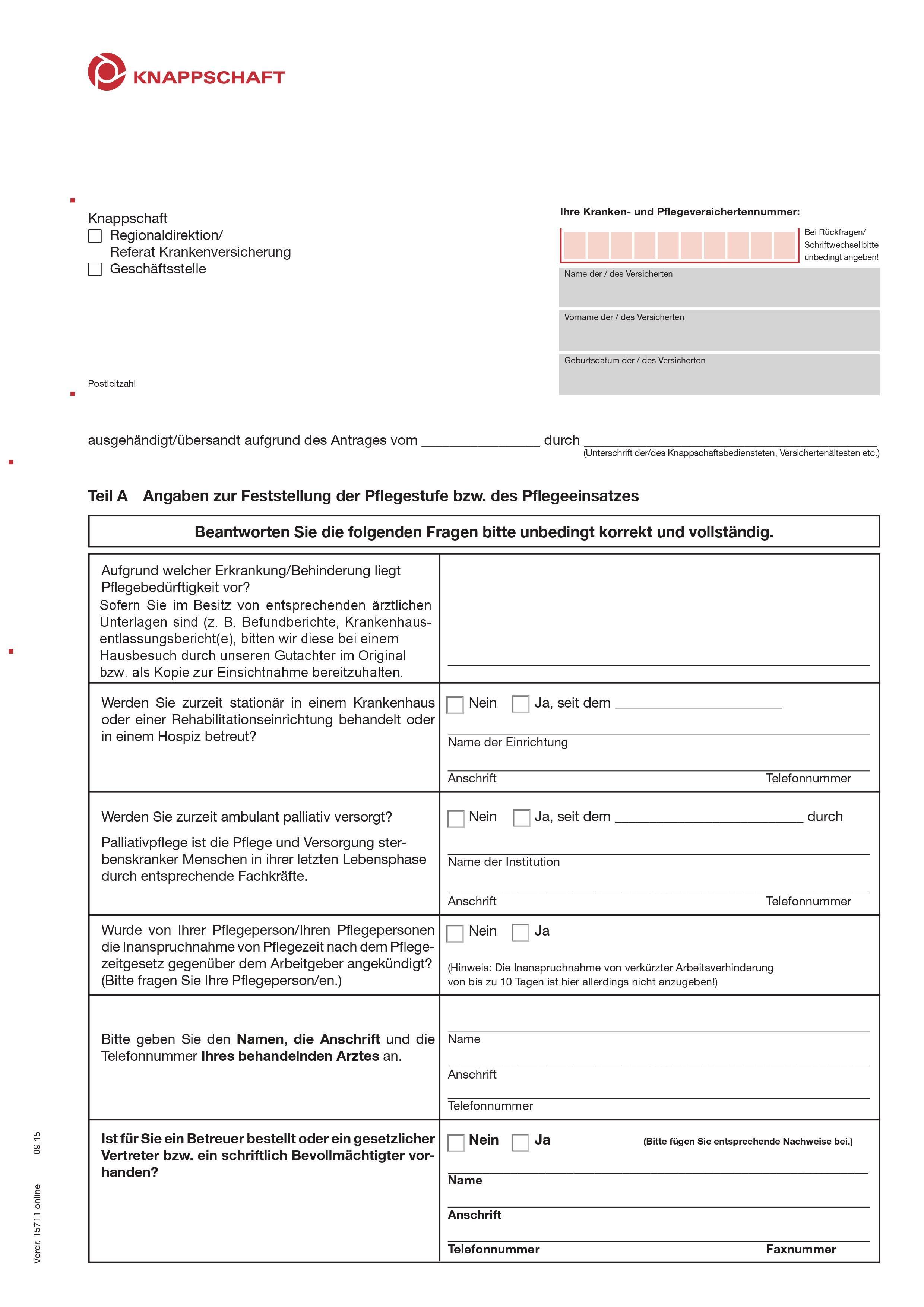 Bundesknappschaft Antrag-auf-Pflege